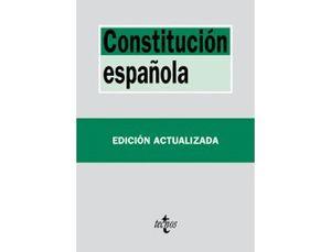 LIBRO TECNOS CONSTITUCION ESPAÑOLA TAPA BLANDA 192 PAGINAS 175X125 MM