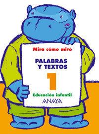 PALABRAS Y TEXTOS 1.