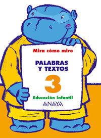 PALABRAS Y TEXTOS 3.