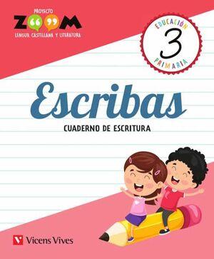 ESCRIBAS 3 CUADERNO DE ESCRITURA (ZOOM)