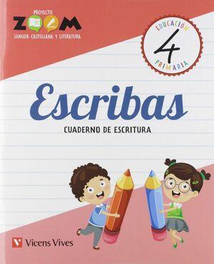 ESCRIBAS 4 CUADERNO DE ESCRITURA 4 PRIMARIA ZOOM