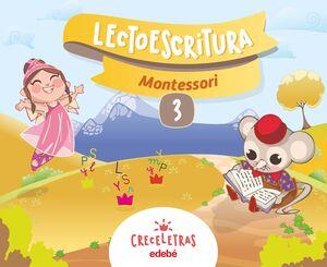 CRECELETRAS LECTOESCRITURA 3 MONTESSORI